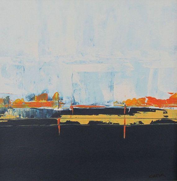 pintura abstracta de acrílico sobre lienzo y enmarañado por tkafka ...