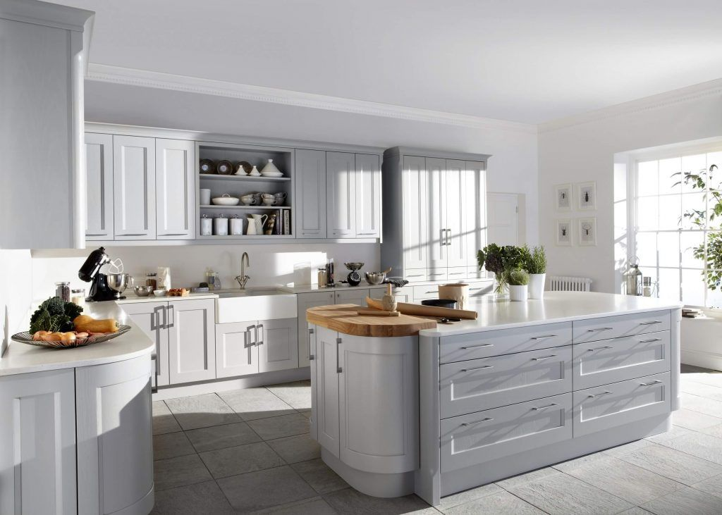 Kew Painted Kitchen In Soft Grey Painted Kitchens Pinterest - Soft grey kitchen