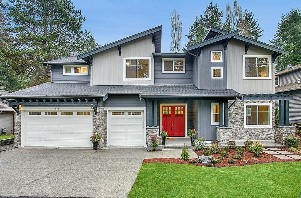 view this great contemporary exterior of home with glass panel door raised beds in bellevue wa the home was built in 2015 and is 3787 square feet - Raised Panel Home 2015