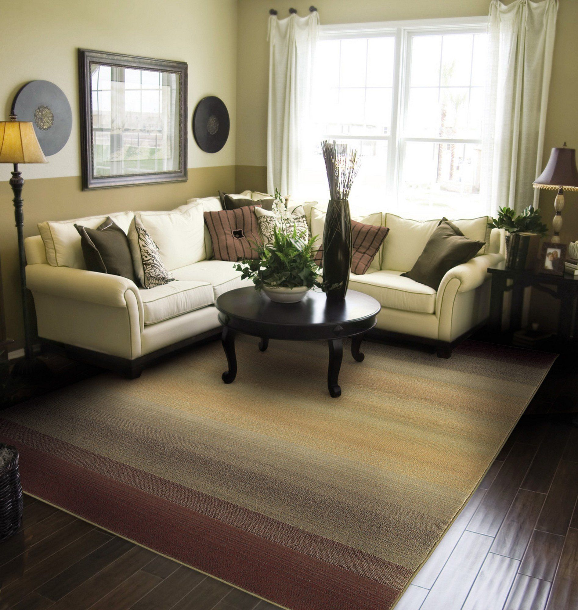 Types Of Kitchen Flooring Ideas: Matilda Brown/Beige Area Rug