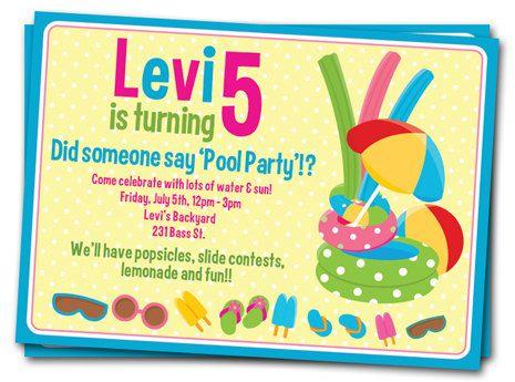beach ball invitations free printable pool party invitations