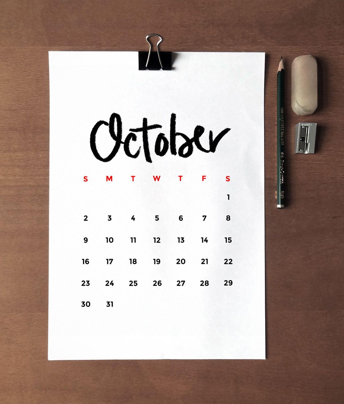 Free minimalist 2016 printable calendar printable for Diy minimalist decor