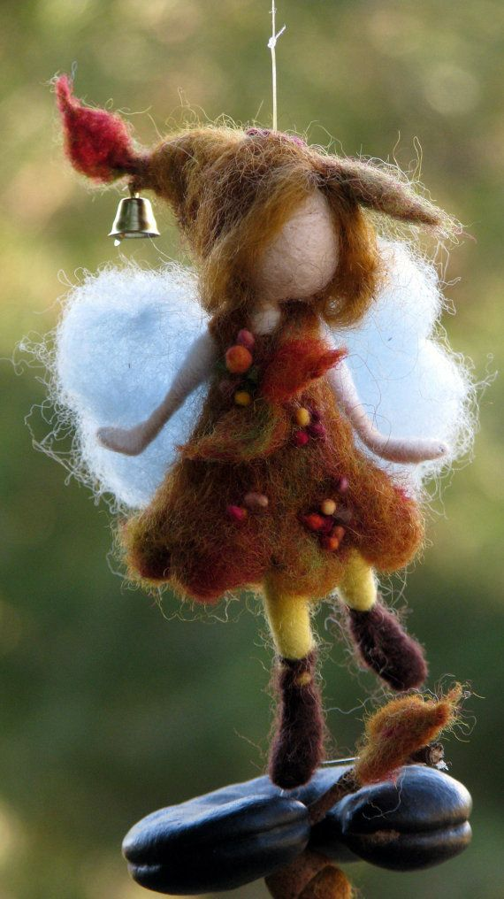 Needle felted Waldorf inspired Little Autumn Fall от Made4uByMagic