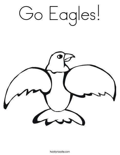 Go Eagles Coloring Page - Twisty Noodle | Eagles | Pinterest
