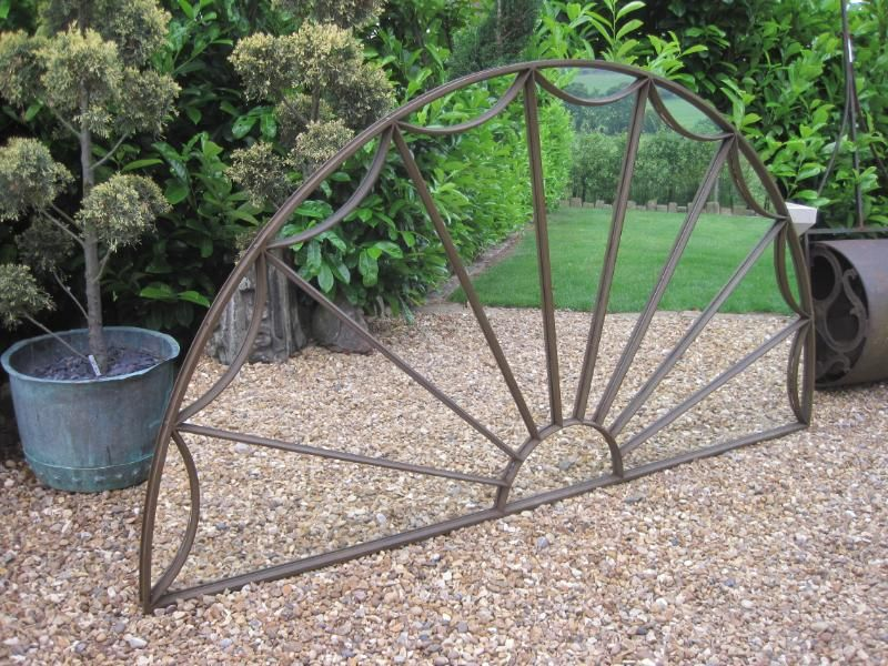 Antique Victorian Cast Iron Arched Window Frame Mirror | DIY Wall ...