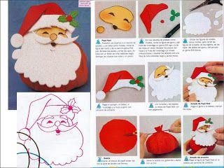 Manualidades Navidad Goma Eva con moldes pap Noel