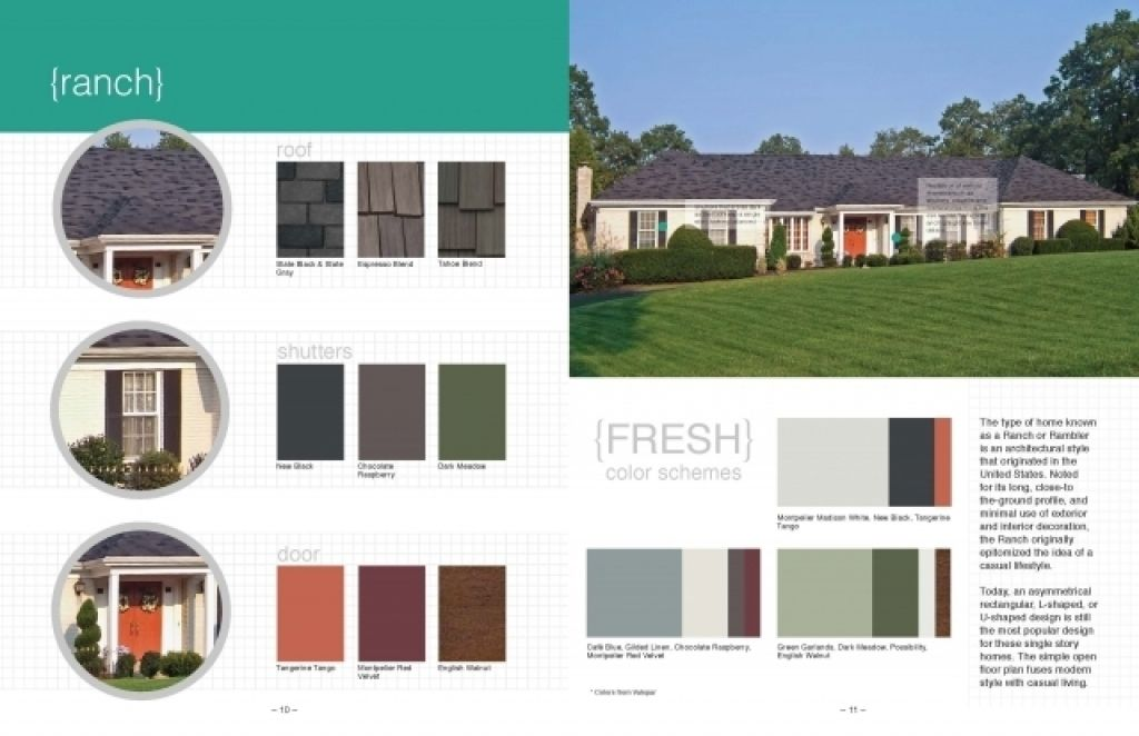 Exterior Color Schemes For Ranch Style Homes Exterior