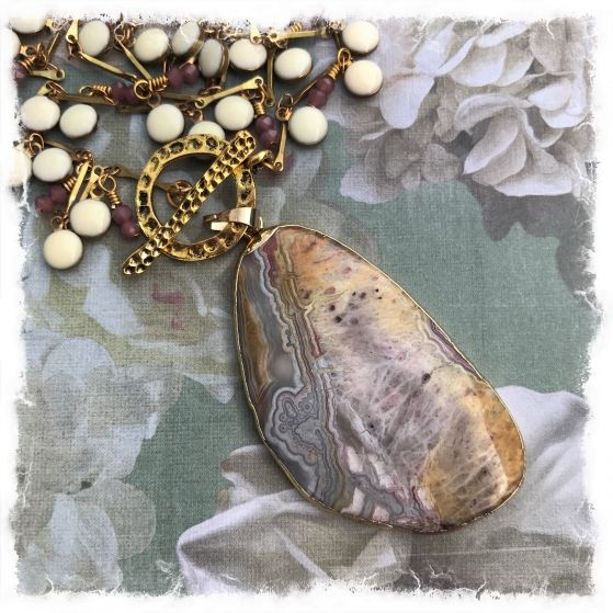 Mexican agate necklace | Raspberry Fields Design