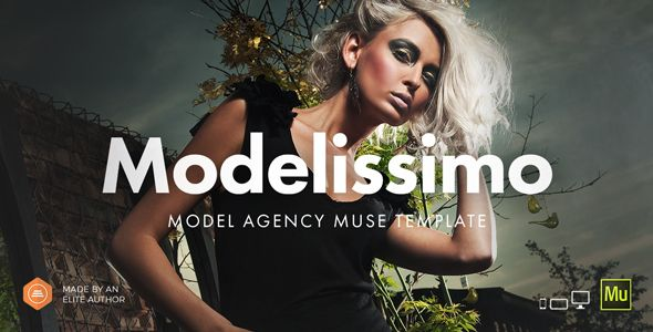 modelissimo model agency fashion portfolio onepage muse template