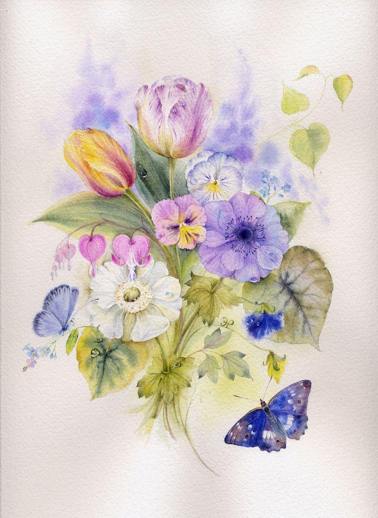 рисуем открытку с цветами неприхотливы, всегда можно