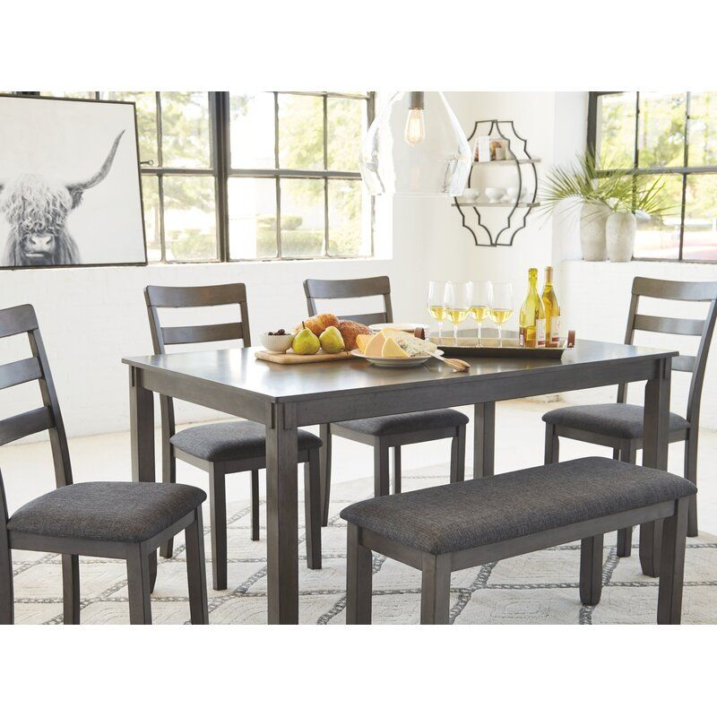 Jaworski 6 Piece Dining Set In 2020 Dining Room Small Dining Room Table Set Transitional Dining Tables