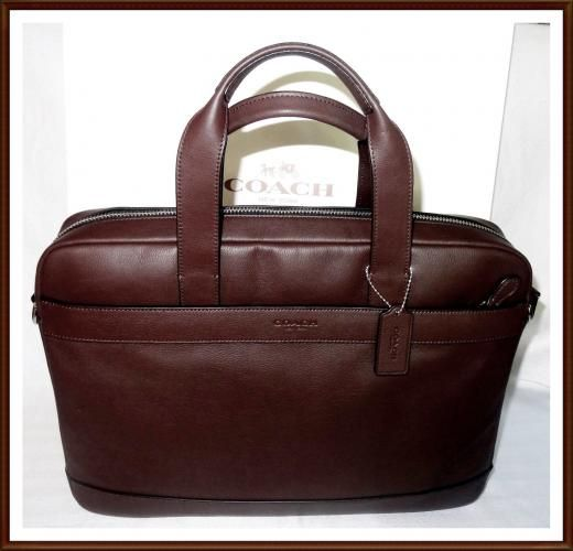 f41d91bc52 ... best price coach nwt new mens leather hamilton briefcase laptop  commuter bag brown receipt bags 14