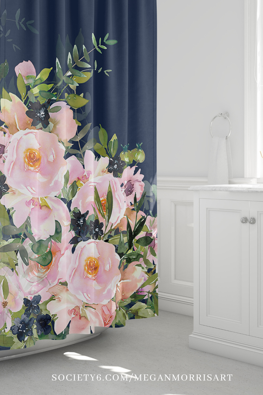 vintage bathroom decor navy shower