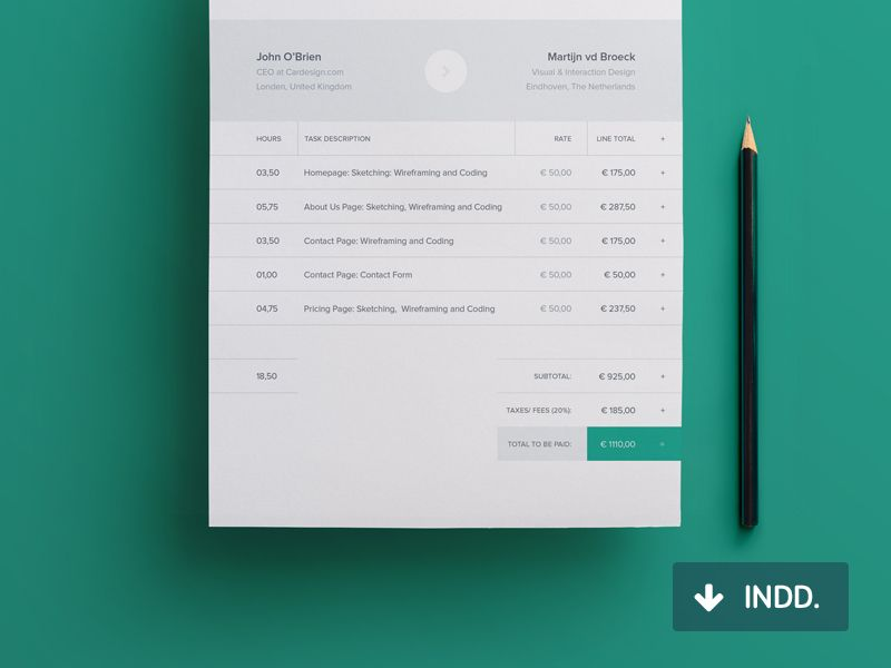 modern invoice template | invoice design, user interface and brochures, Invoice examples