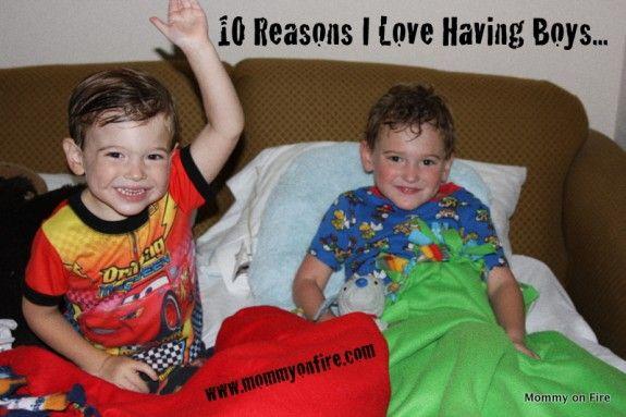 10 reasons to love having boys