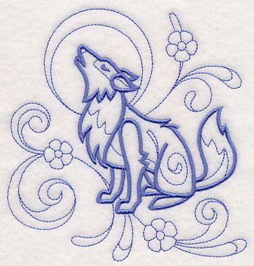EMBROIDERED TAN HAND TOWEL INKY DEER DESIGN