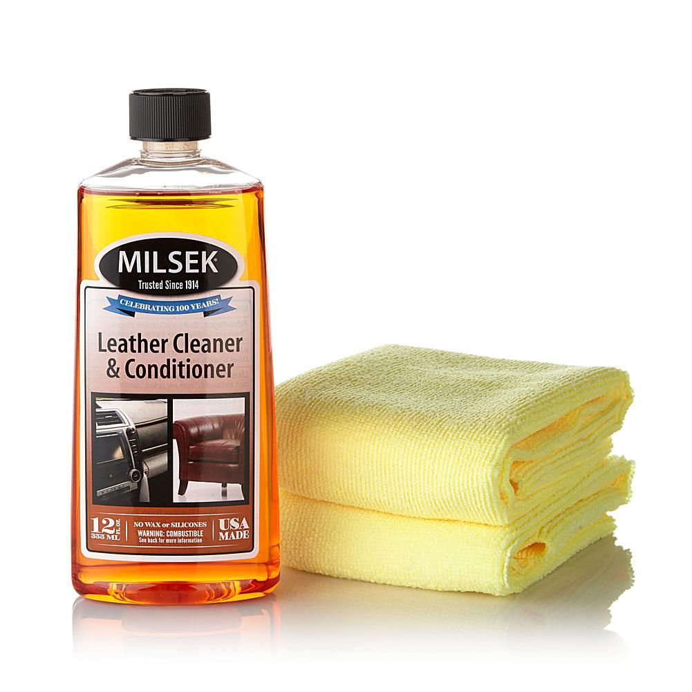 Milsek Leather Cleaner & Conditioner with 2 Cloths ...