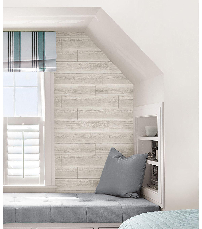 Wallpops Nuwallpaper Cream Serene Paneling Peel Stick Wallpaper Nuwallpaper Home Beadboard Wainscoting