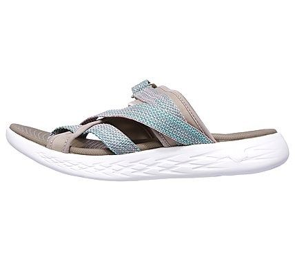 new product ba7c8 5e5d6 Skechers Women s On The GO 600 Glow Slide Sandals (Taupe Natural)