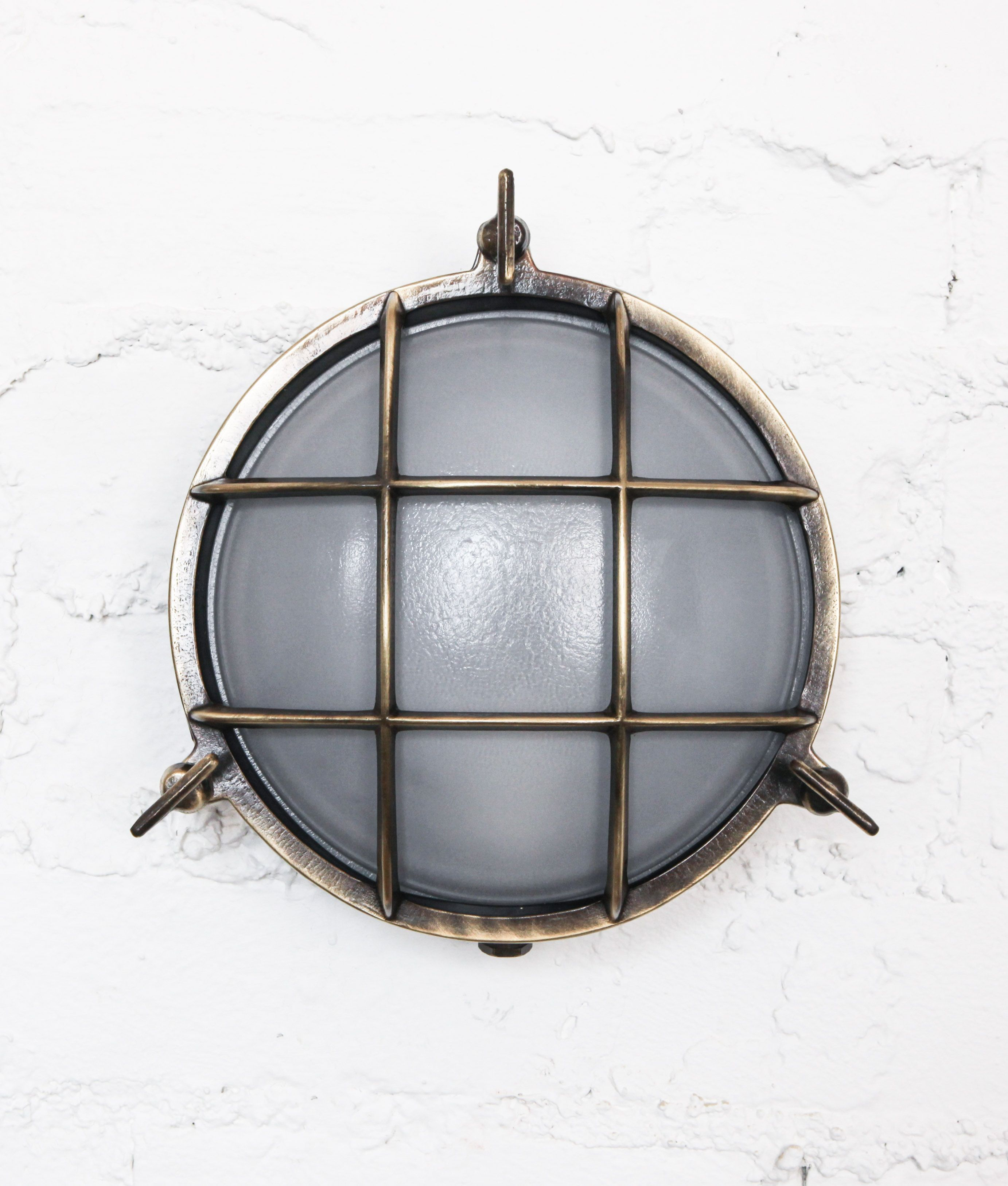 Age old brass chris round bulkhead wall light product bulkhead
