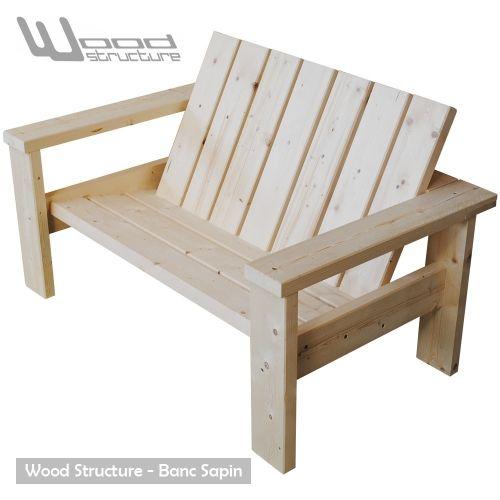 Banc sapin du nord - Design Wood Structure - Fabriqué en France par ...