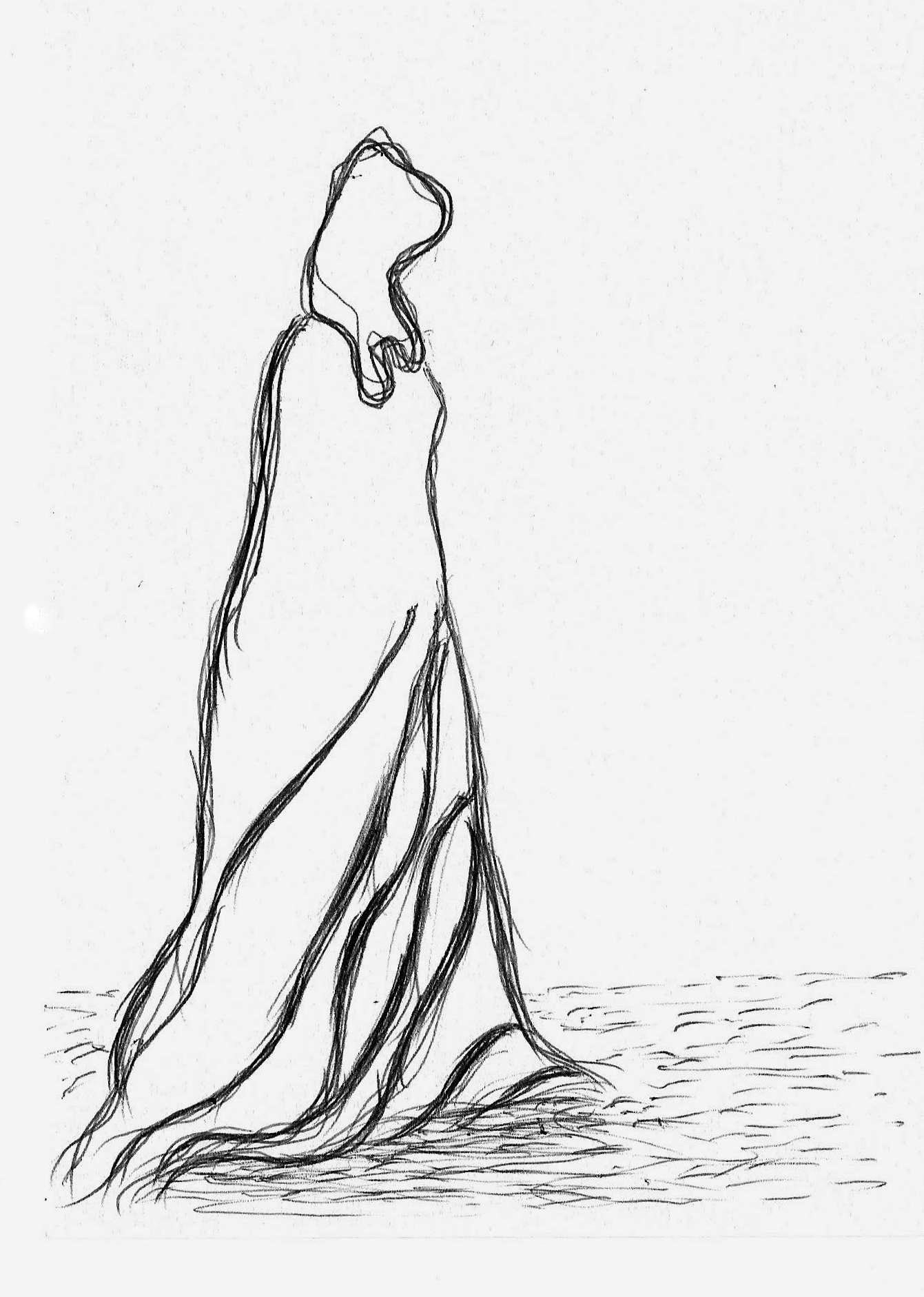 Mujer caminando Bolgrafo Amparo Ramis  Mis dibujos mujeres