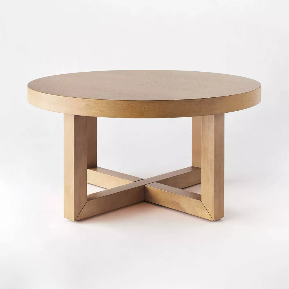 Rose Park Round Wood Coffee Table Threshold Designed With Studio Mcgee In 2021 Round Wood Coffee Table Coffee Table Wood Coffee Table [ 1000 x 1000 Pixel ]