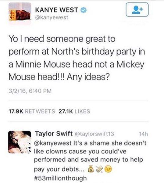 Kanye And Tarlor Swift Feud Tweet