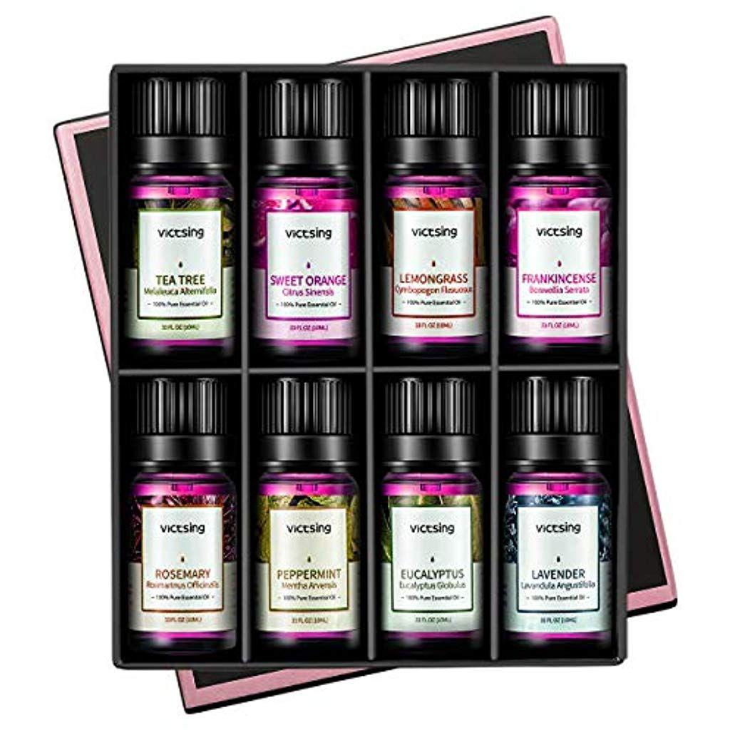 Atherische Ole Set 6x10ml Victsing Essential Oil Fur Aromatherapie Duftol Fur Aroma Diffuser 100 Rein Ole Lavendel Pfef Perfume Perfume Bottles Essential Oils