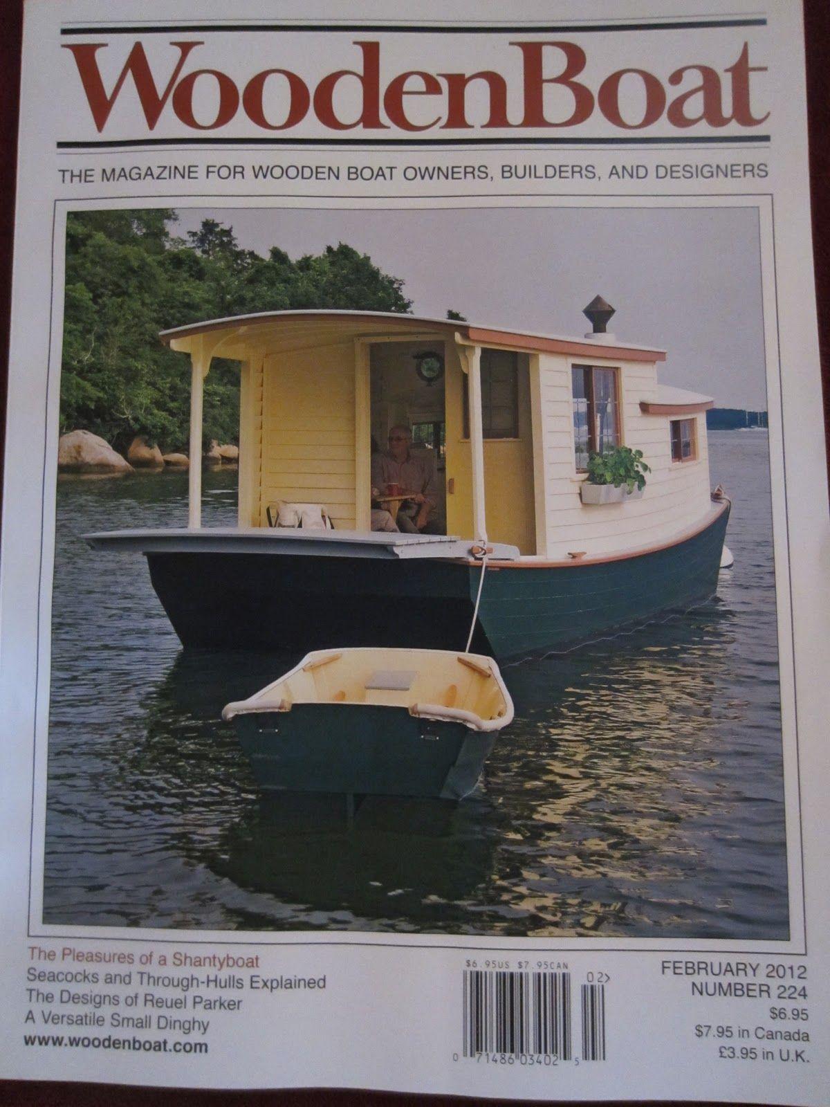 An UNBELIEVABLE Shantyboat/Houseboat in Wooden Boat Magazine…