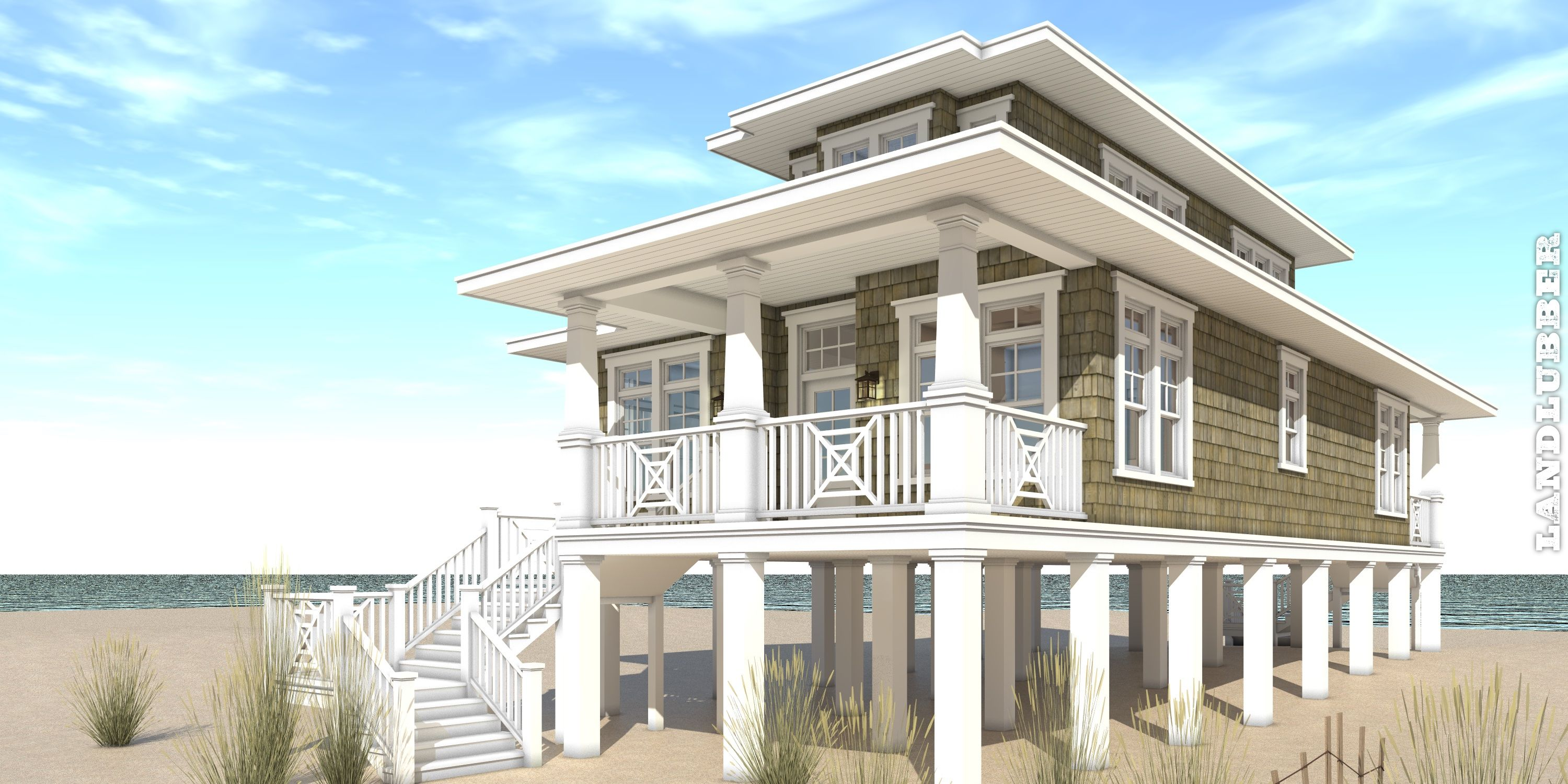 3 Bedroom Beach House Plan Tyree House Plans Beach House Flooring Beach House Design Beach House Floor Plans