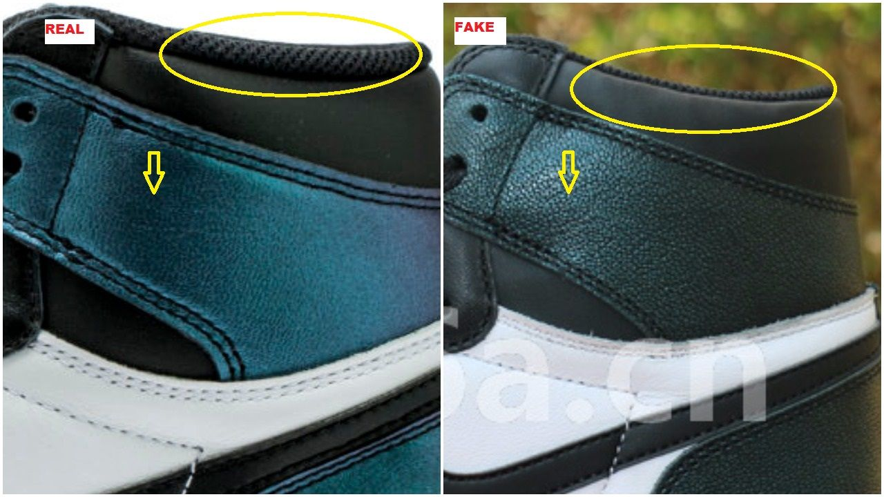 2f80a26e34a62 Quick Tips To Spot The Fake Air Jordan 1 Chameleon All Star ASW in ...