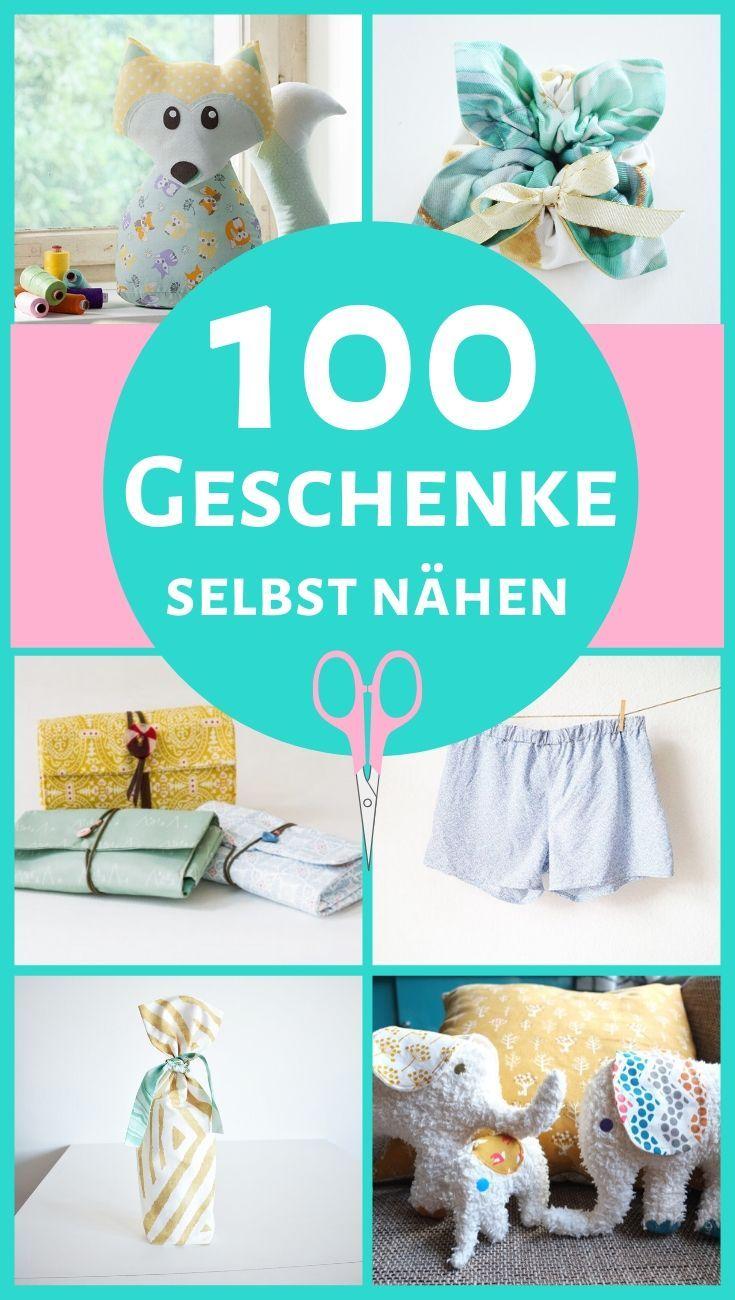 Geschenke selbst nähen! 100 kleine DIY Geschenkideen mit kostenloser Nähanleitung | DIY MODE