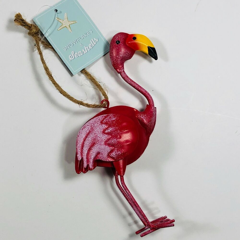 Christmas Ornament Pink Flamingo 5.5in Holiday Christmas