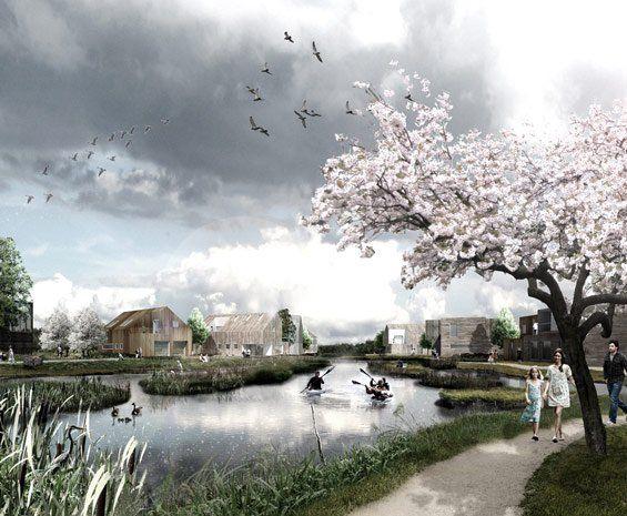 The Delta District | Vinge, Denmark | SLA #water #landscape #denmark #conceptual #perspective
