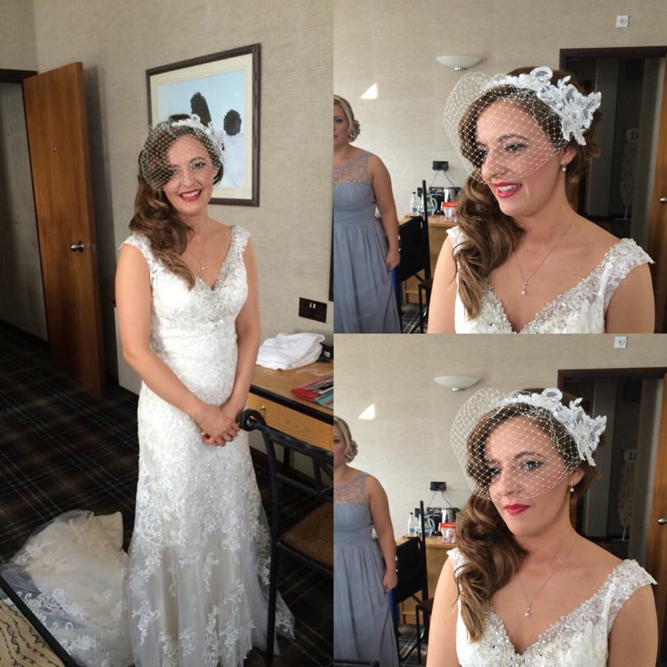 Wedding hair down style.....