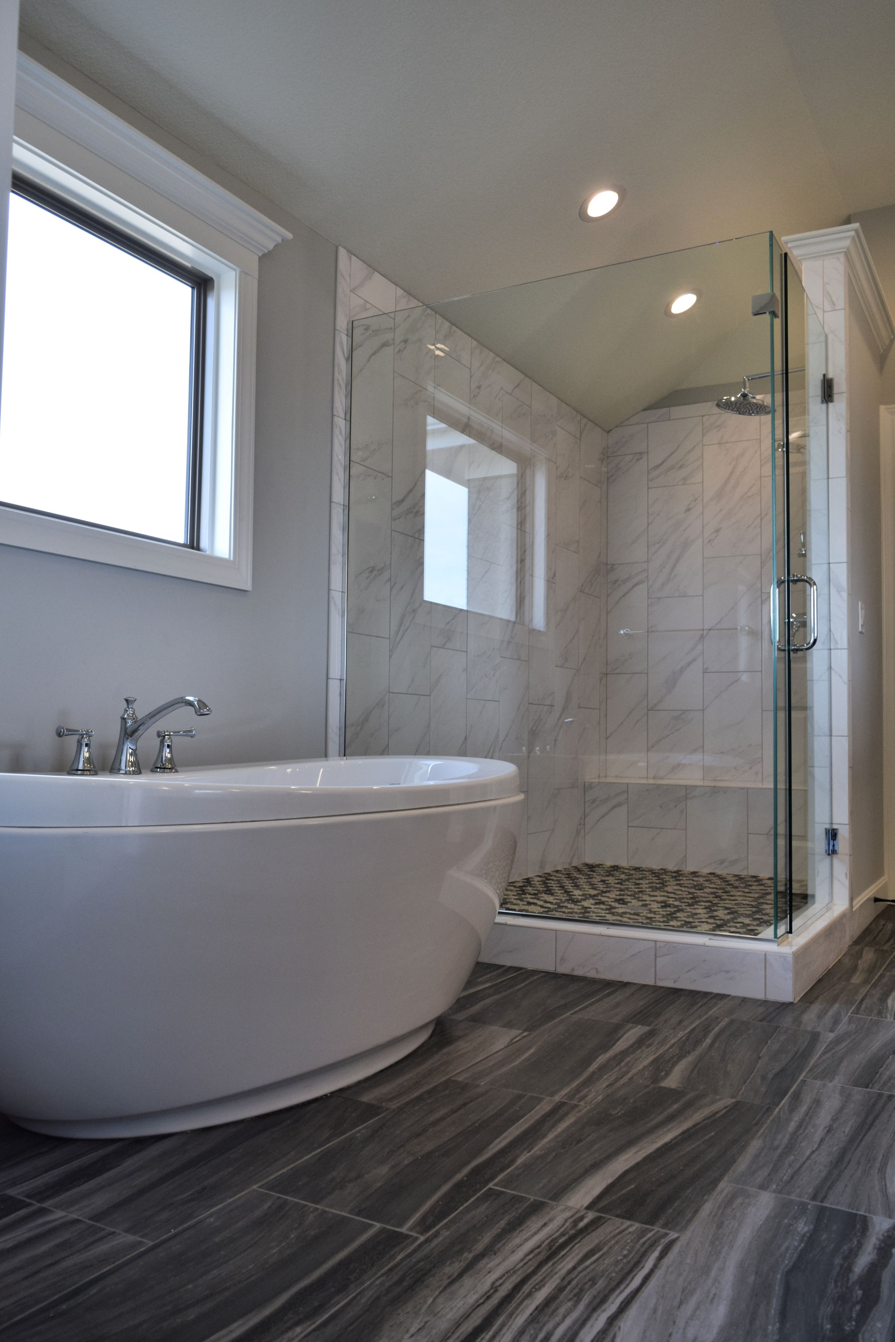 Gorgeous Master Bath Extra Large Walk In Shower Glass Door Jetted Tub And R Dream Bathroom Master Baths Master Bedroom Design Layout Bathroom Remodel Master