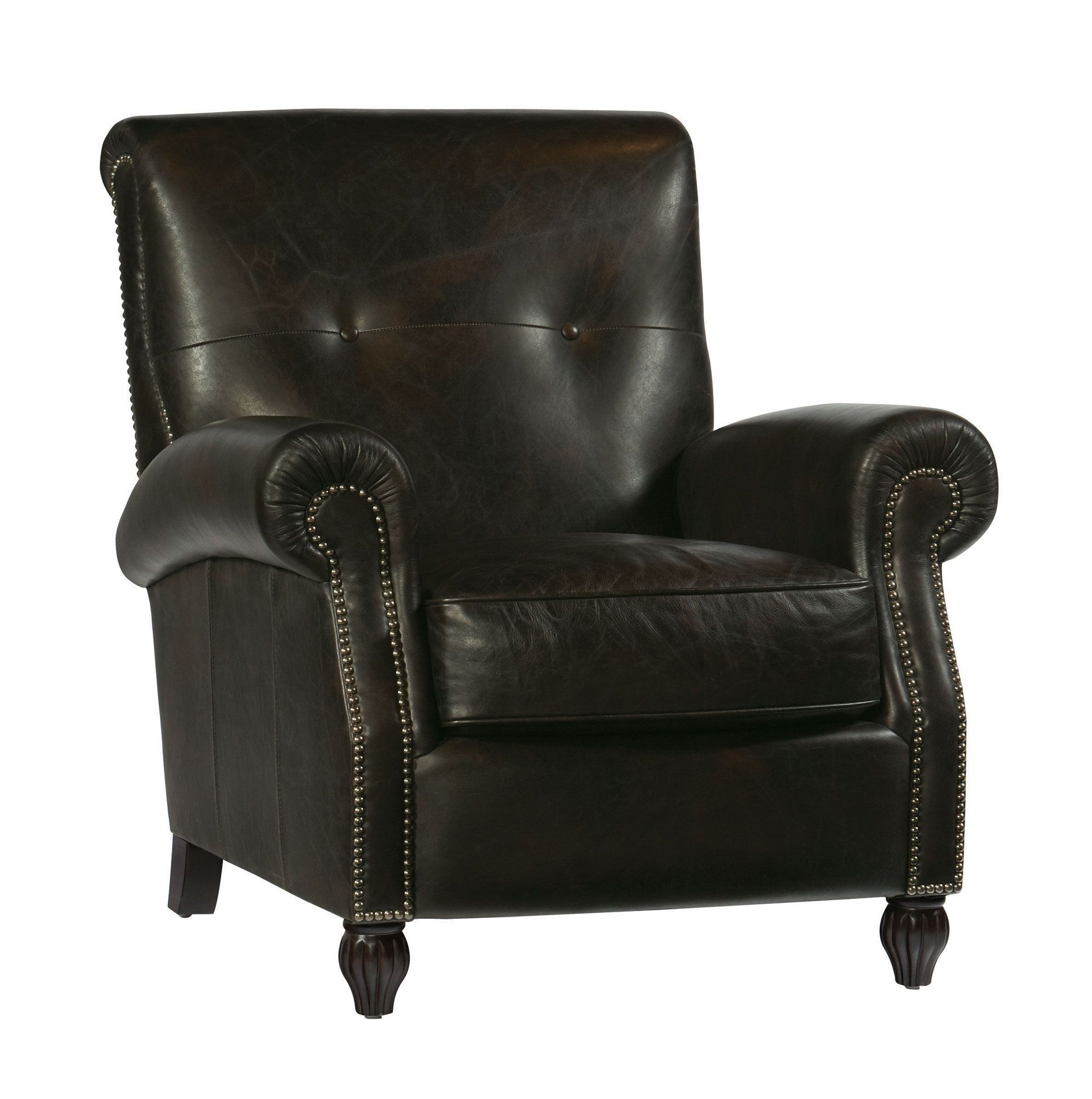 Hughes Leather Chair   Bernhardt