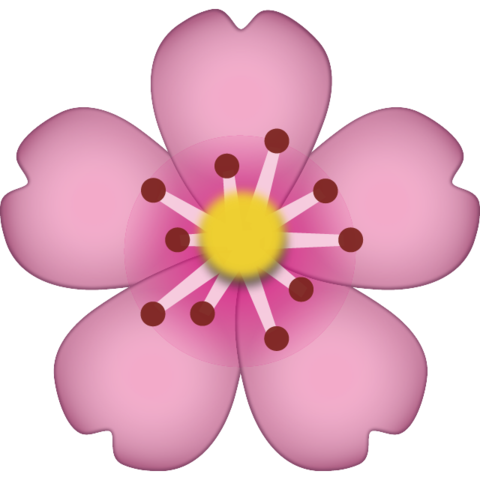 Cherry Blossom Emoji Colourful Wallpaper Iphone Emoji Cool Emoji