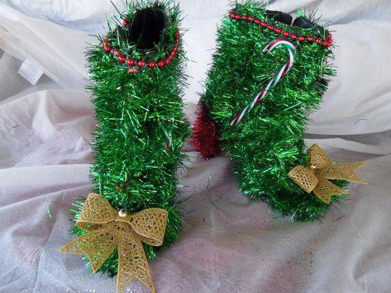Ähnliche Artikel wie Oh LaLa Sexy hässlich klebrig Christmas Sweater Party Schuhe auf Etsy