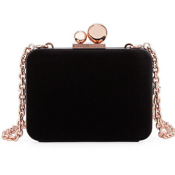 Vivi Glacia Velvet Box Clutch Bag