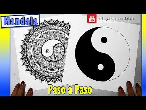 Como dibujar el símbolo del yin yang, como dibujar un mandala paso a paso - YouTube