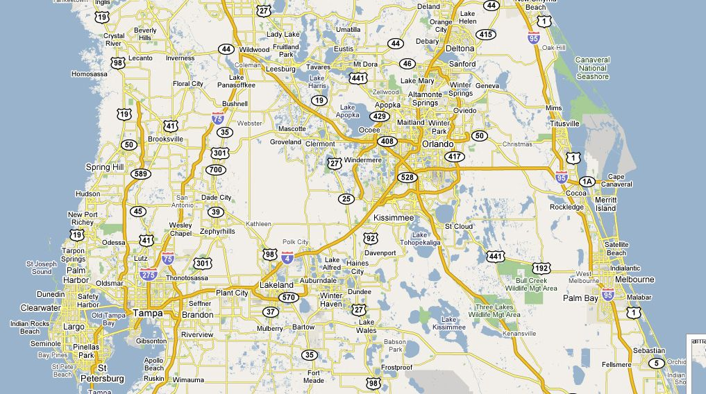 Lake Mary area | Lake Mary, Florida | Map of central florida ...