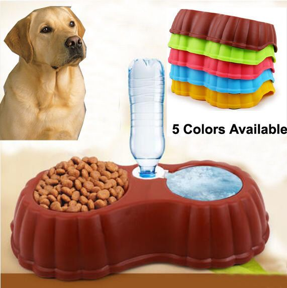 Pets Dog Cat Automatic Food Supply Bowl Bottle Dog Feeding