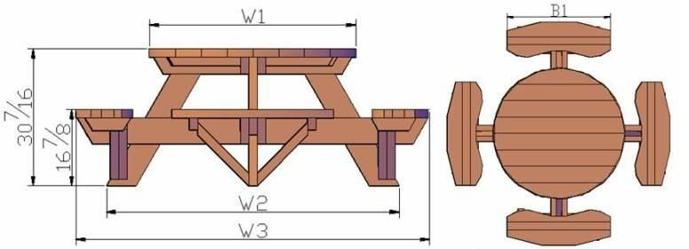 Round Picnic Table Plans Free Picnic Table Plans For the Home