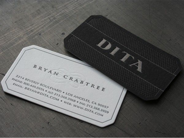 Dita Eyewear La Business Cards These Are The Brand New Cards For