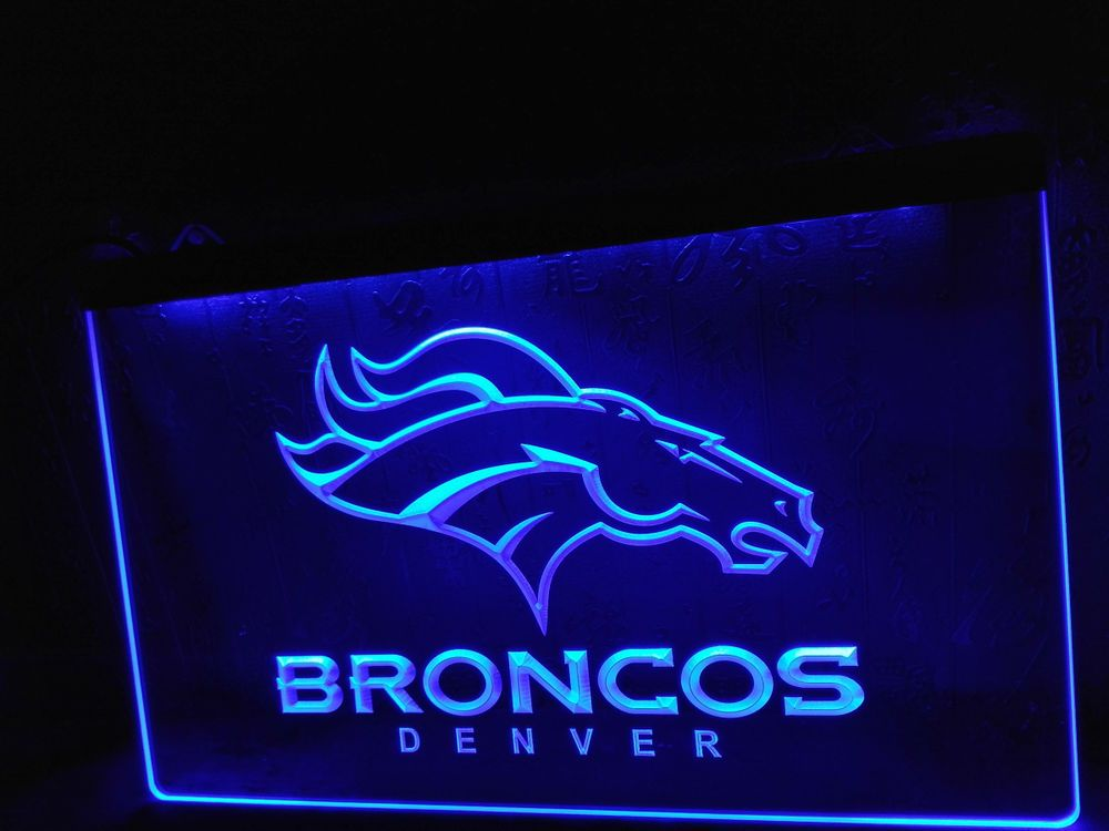 Led Sign Home Decor Captivating Denver Broncos Bar Pub Logo Led Neon Light Sign Home Decor Crafts Inspiration