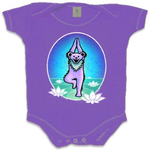 85c0b4b47 GratefulDead Yoga Bear Purple Infant Onesie   Grateful Dead ...