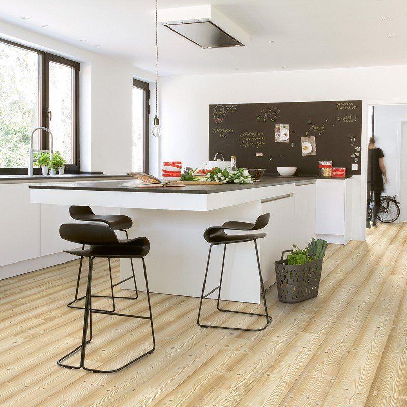 Quickstep 8Mm Natural Pine Laminate Flooring  Laminate Floors Classy Laminate Kitchen Table Decorating Design