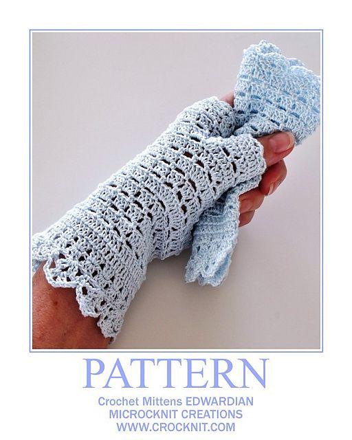 Crochet Mittens Edwardian Pattern By Barbara Summers Crochet